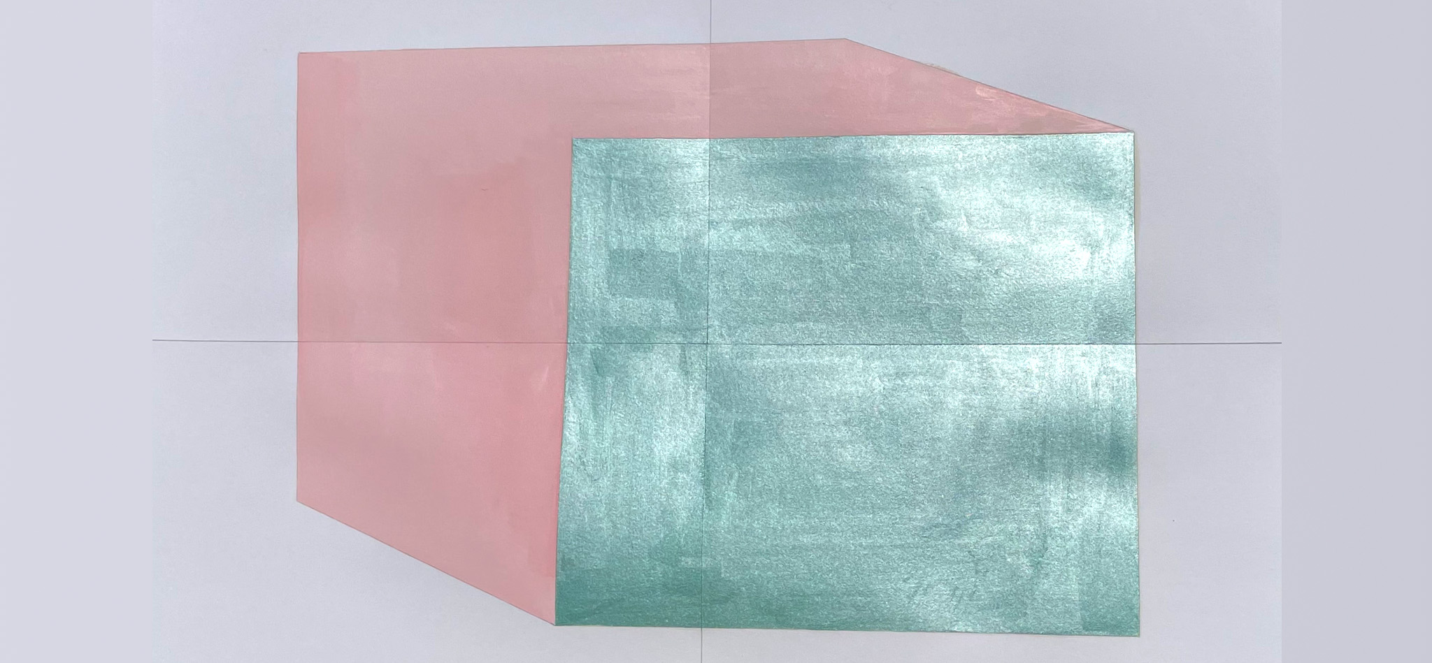 cubonito, 110 cm x 75 cm, oil and pigments on paper, 2021
